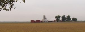 Another beautiful midwestern farmstead along the trail, this one in the drizzle of a rainy day.