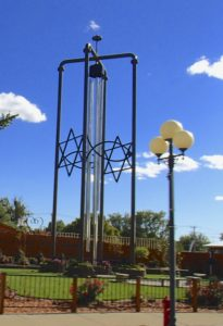 The world's largest wind chimes in Casey, IL.